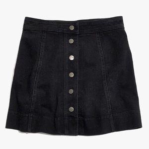 Madewell Metropolis Denim Snap Button Mini Skirt